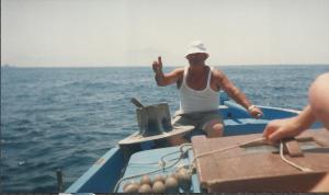 Mijn schipper bij Capri